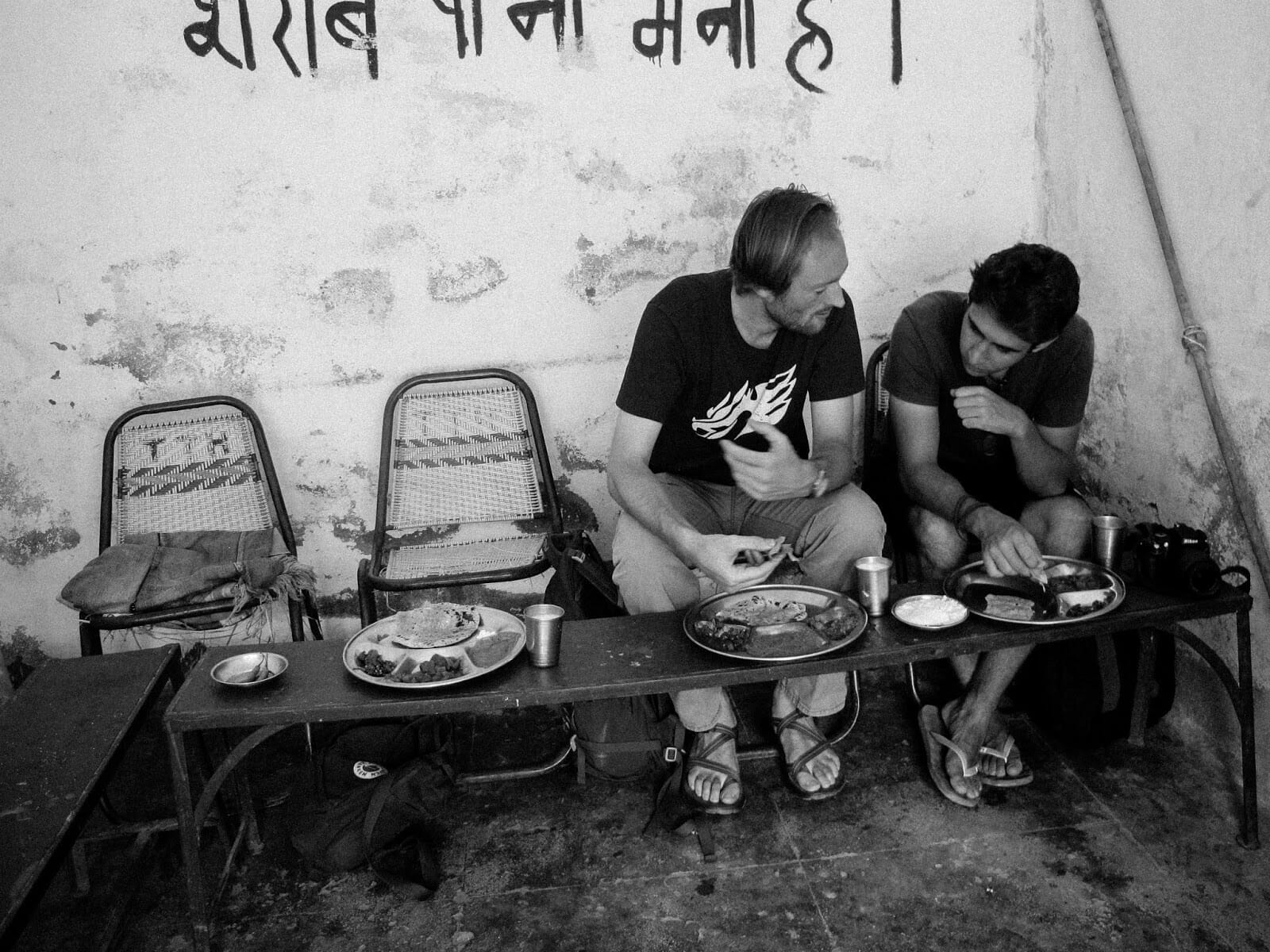 GGI recipient Drew Kerr (M.A., Divinity '16) in Rajasthan, India