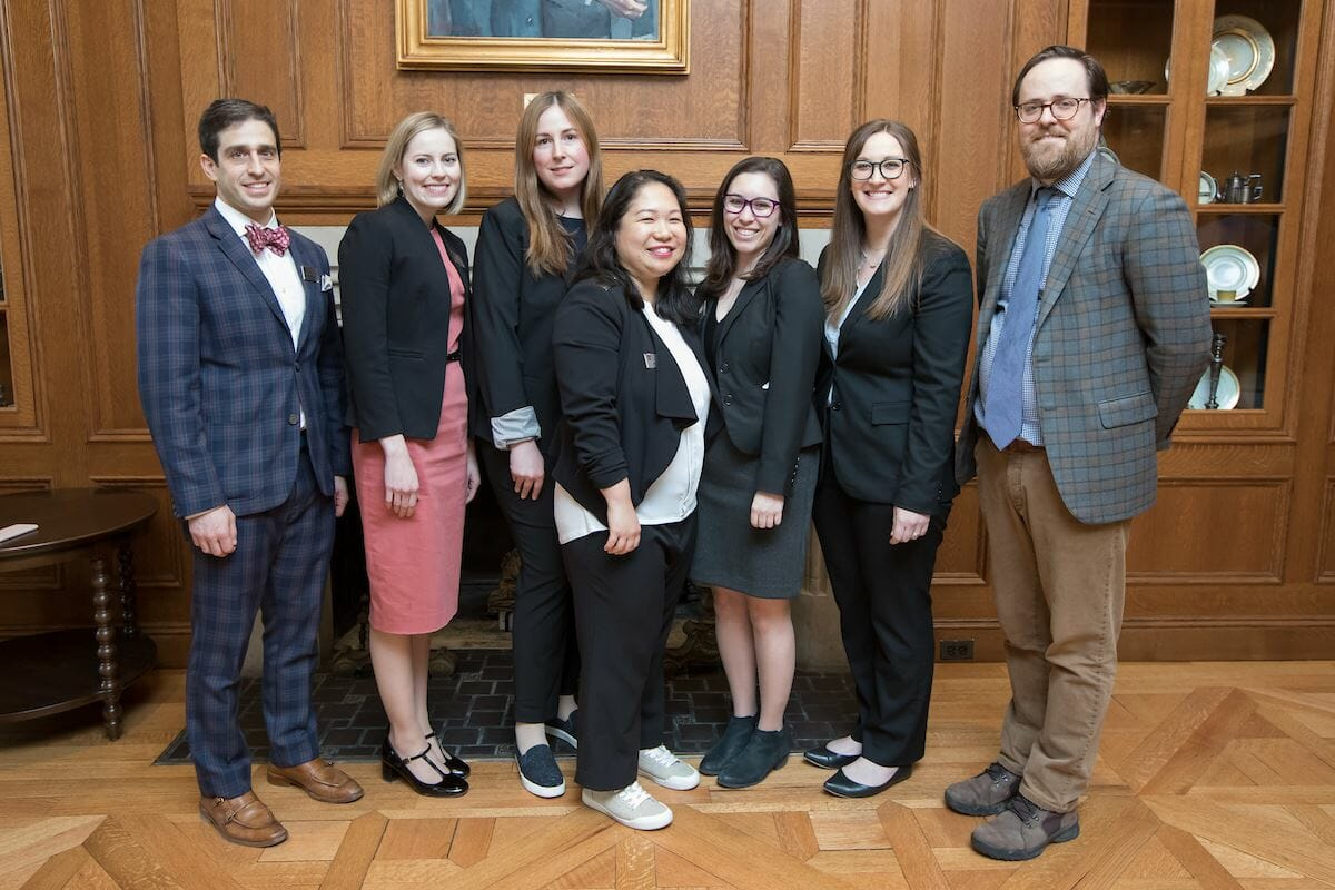 The UChicago GRAD careers teem poses for a photo at GRADUCon 2019.
